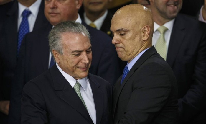 Alexandre de Moraes indicado por Michel Temer para ocupar a vaga de Zavascki e agora