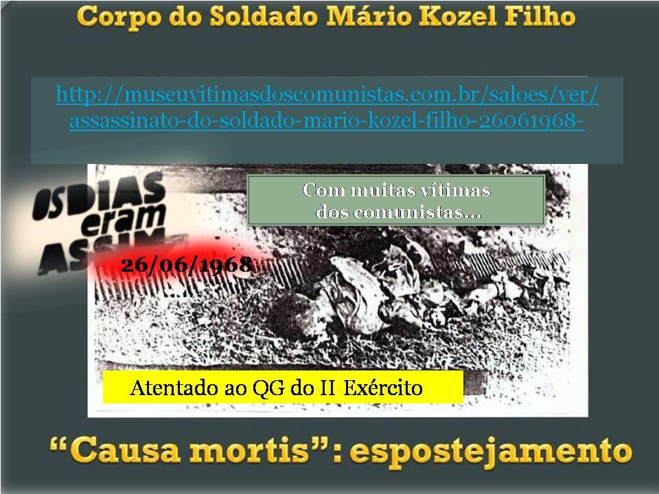 Terrorismo comunista explode soldado sentinela