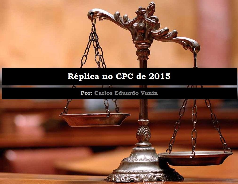 Réplica No Código De Processo Civil