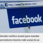 Juiz eleitoral de SC determina que Facebook fique fora do ar por 24 horas